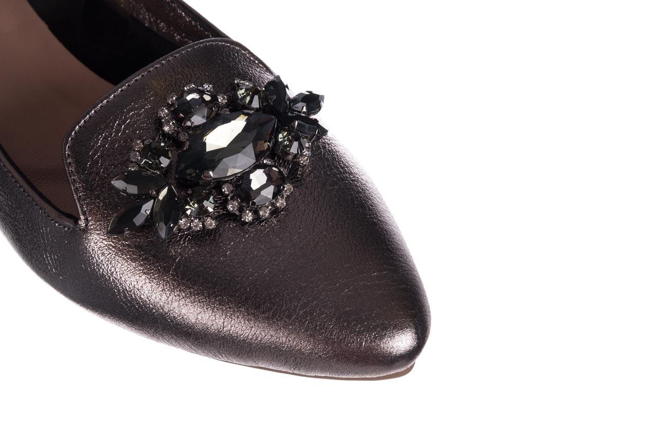 Baleriny bayla-161 093 388 4024 platinum 20, nikiel, skóra naturalna  - skórzane - baleriny - buty damskie - kobieta 11