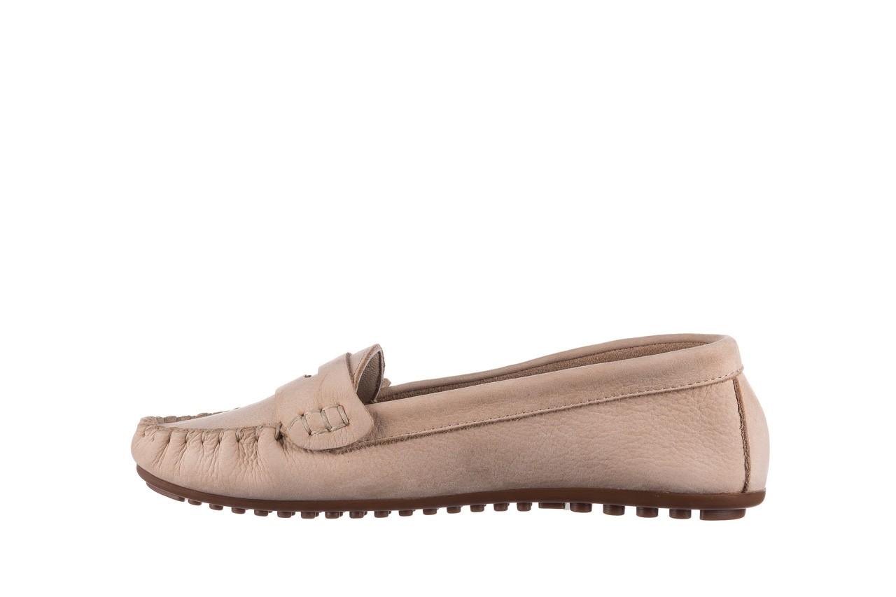 Mokasyny bayla-161 093 388 6004 beż, skóra naturalna  - półbuty - buty damskie - kobieta 8