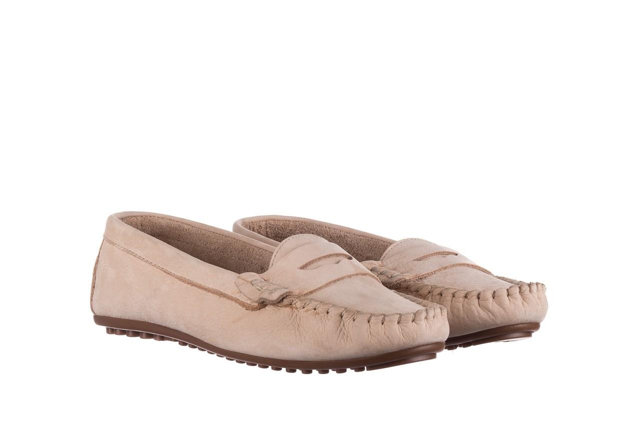 Mokasyny bayla-161 093 388 6004 beż, skóra naturalna  - półbuty - buty damskie - kobieta 7