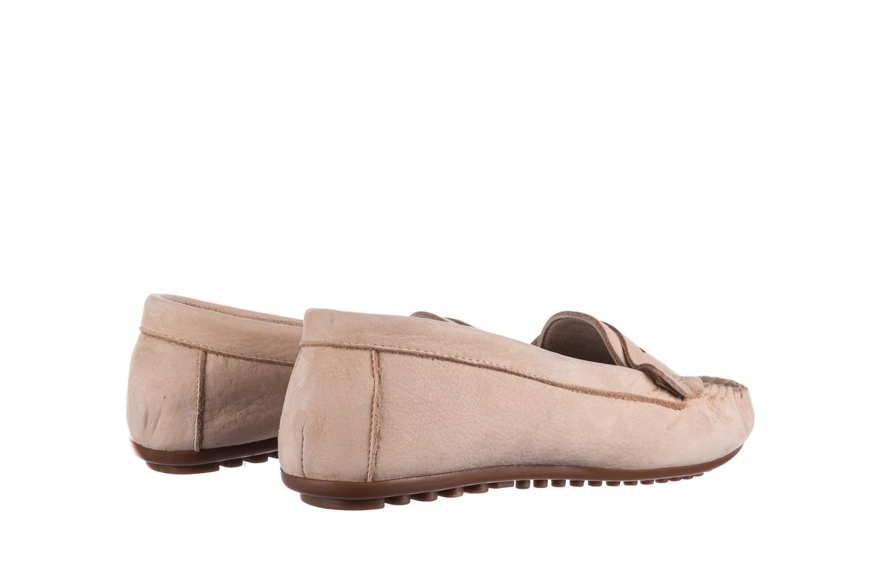Mokasyny bayla-161 093 388 6004 beż, skóra naturalna  - półbuty - buty damskie - kobieta 9