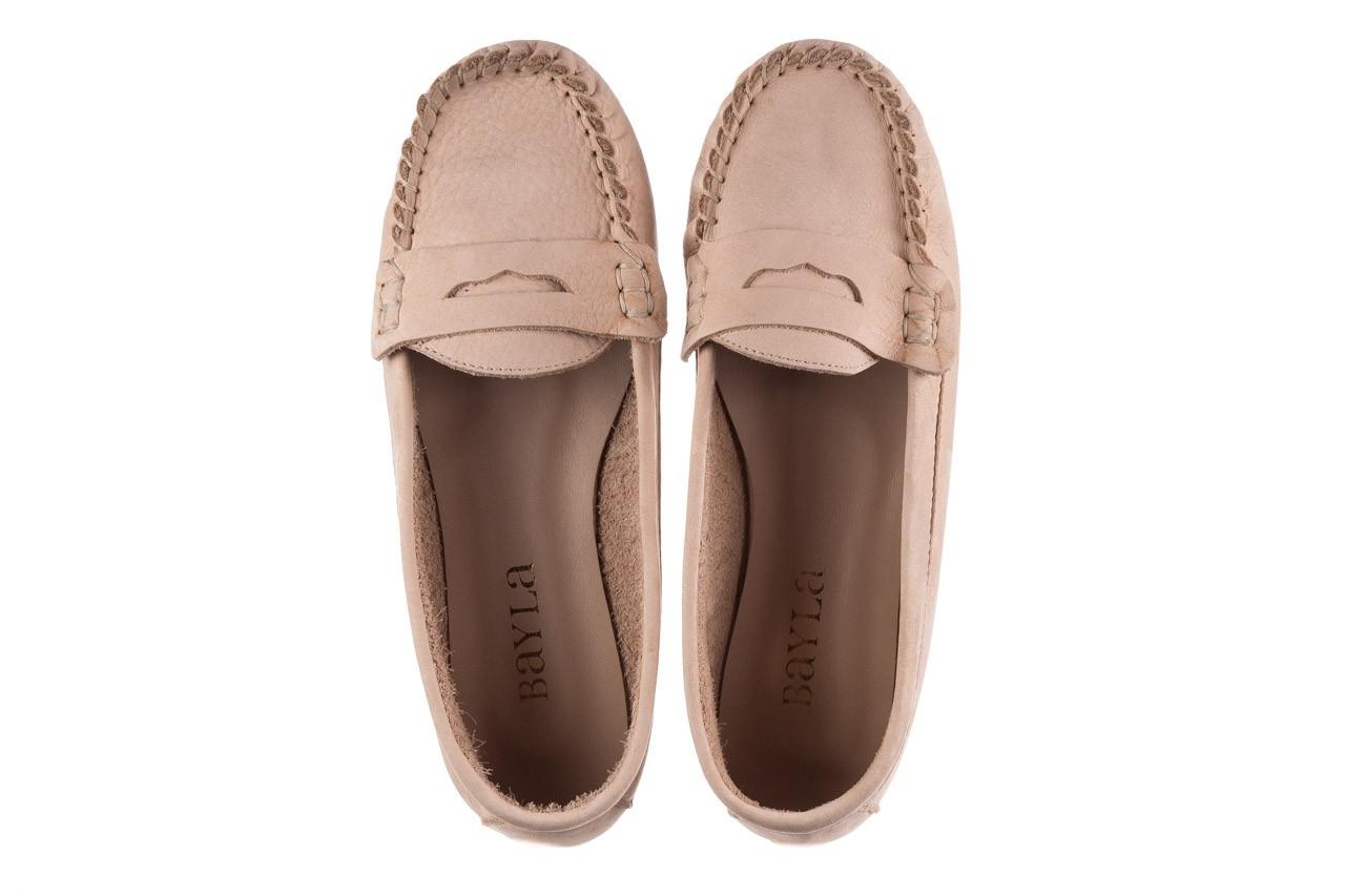 Mokasyny bayla-161 093 388 6004 beż, skóra naturalna  - półbuty - buty damskie - kobieta 10