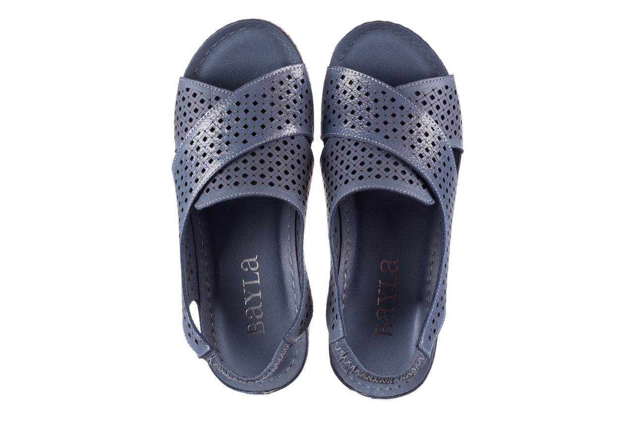 Sandały bayla-161 054 3010 niebieski, skóra naturalna  - bayla - nasze marki 11