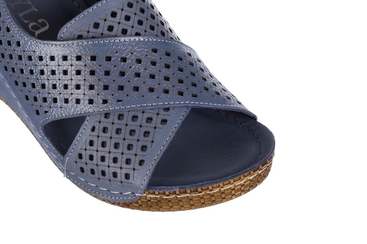 Sandały bayla-161 054 3010 niebieski, skóra naturalna  - bayla - nasze marki 12