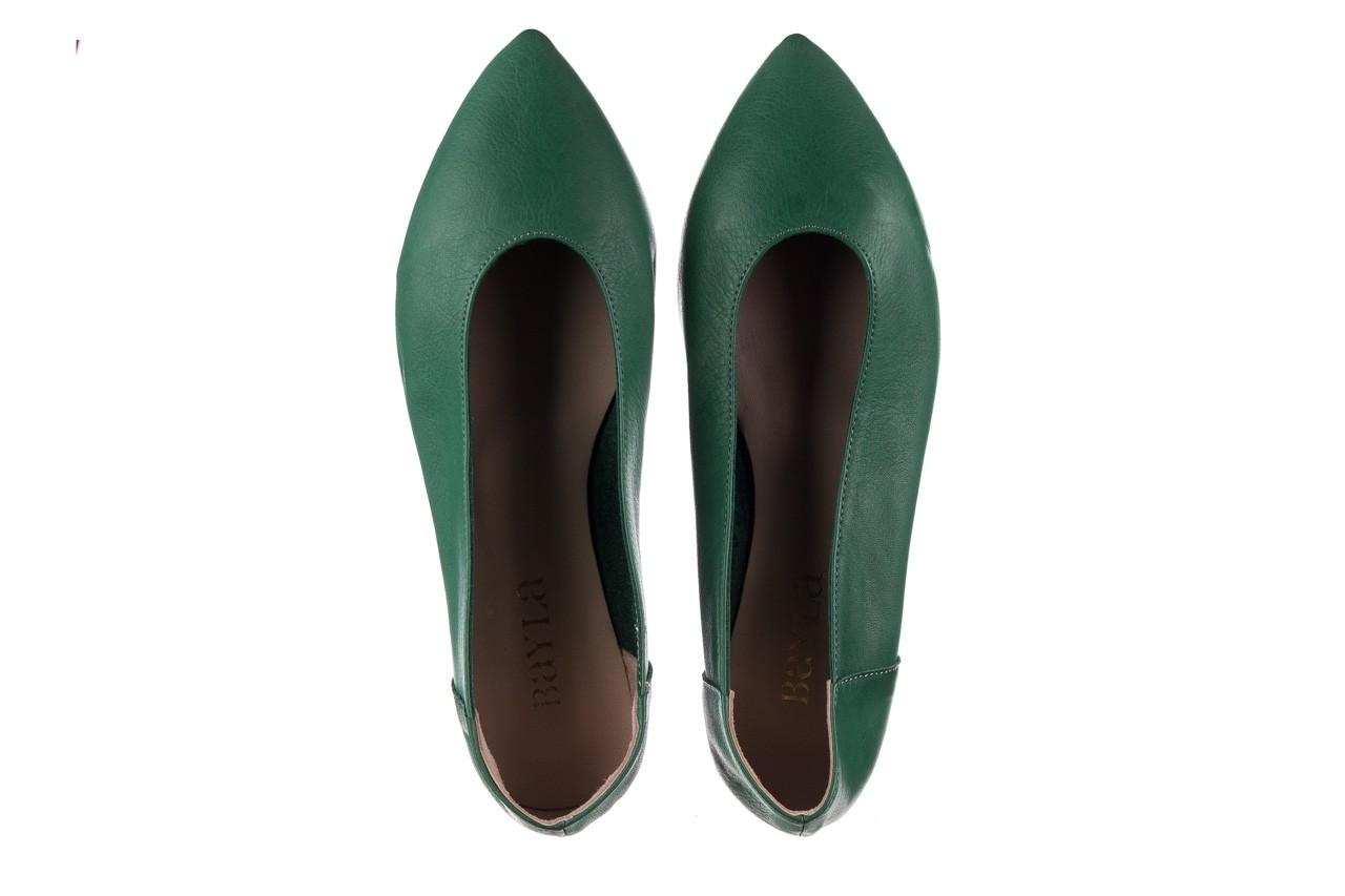 Baleriny bayla-161 093 388 4010 khaki, zielony, skóra naturalna  - bayla - nasze marki 10