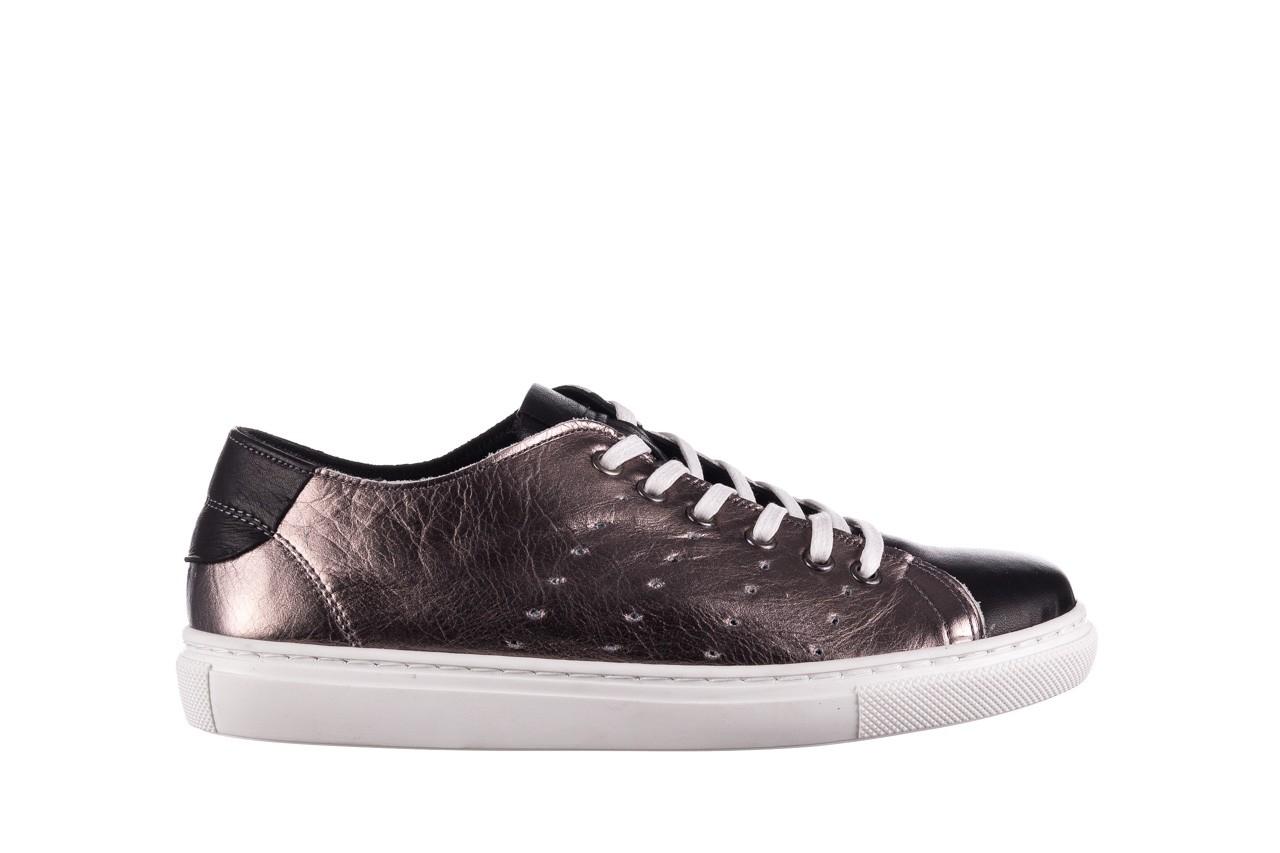 Trampki bayla-161 093 90135 platynowy czarny 161047, skóra naturalna  - trampki - buty damskie - kobieta 6