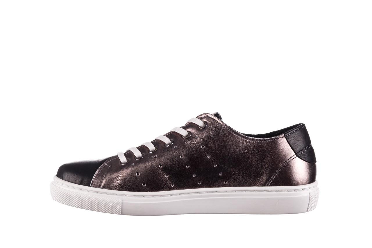Trampki bayla-161 093 90135 platynowy czarny 161047, skóra naturalna  - trampki - buty damskie - kobieta 8