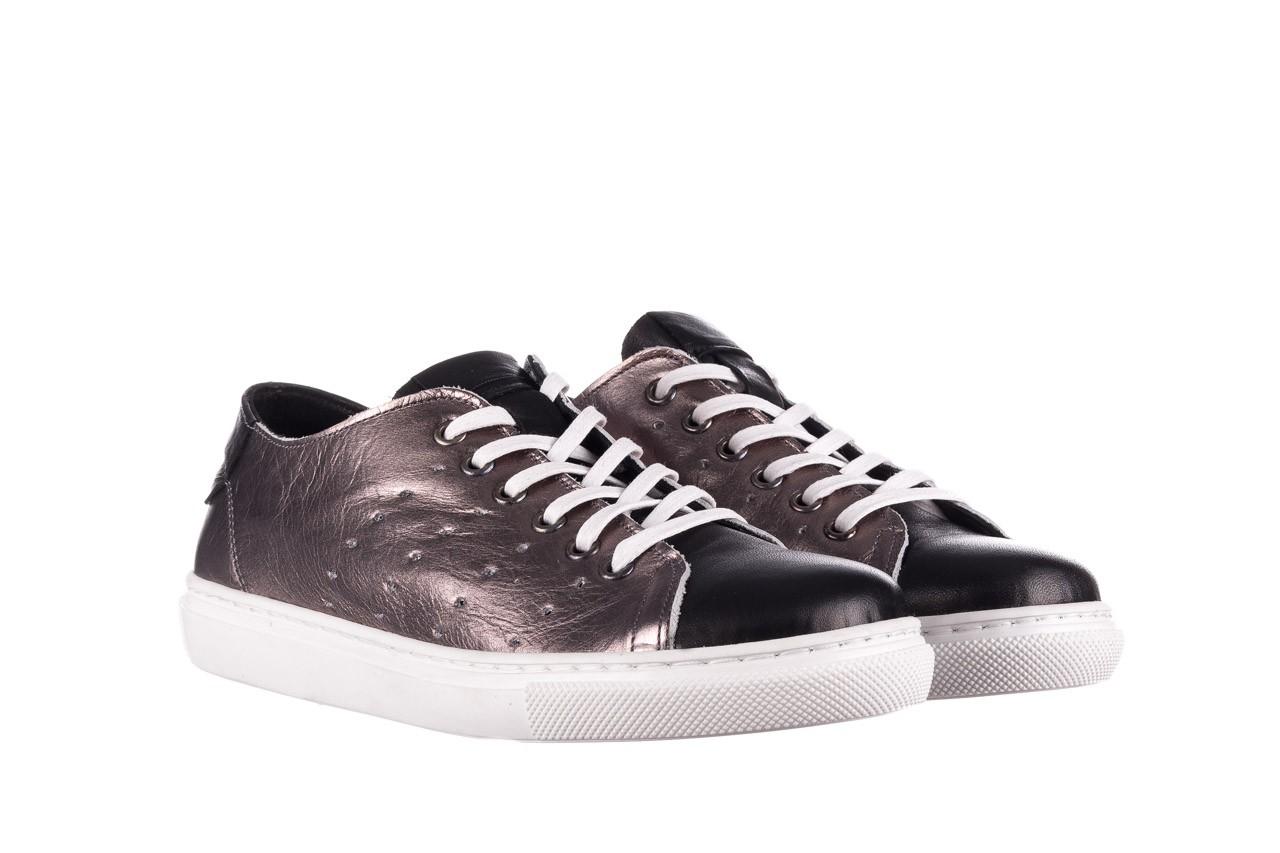 Trampki bayla-161 093 90135 platynowy czarny 161047, skóra naturalna  - trampki - buty damskie - kobieta 7