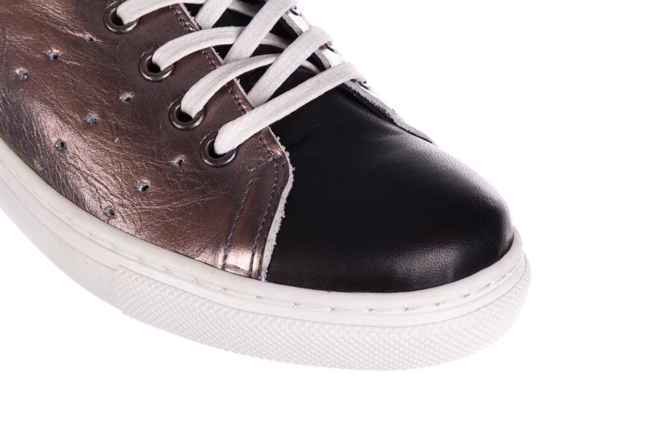 Trampki bayla-161 093 90135 platynowy czarny 161047, skóra naturalna 11
