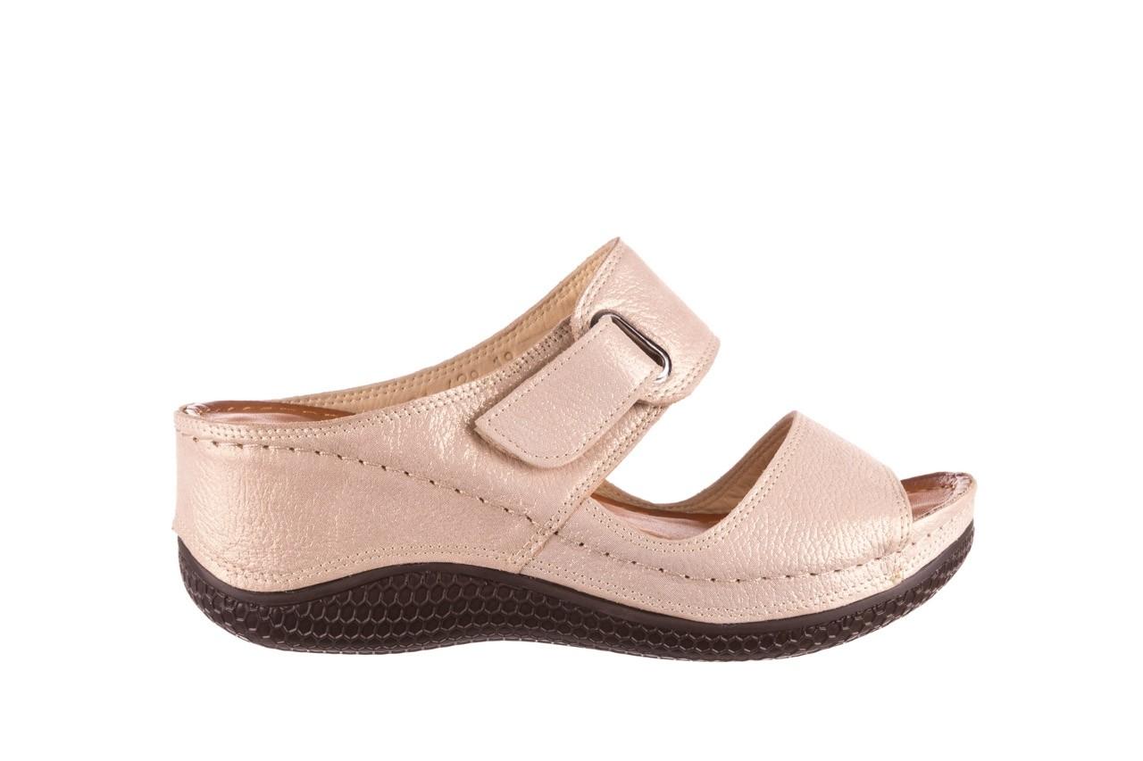 Klapki bayla-112 0001-428-bs43 beż, skóra naturalna  - na koturnie - klapki - buty damskie - kobieta 7