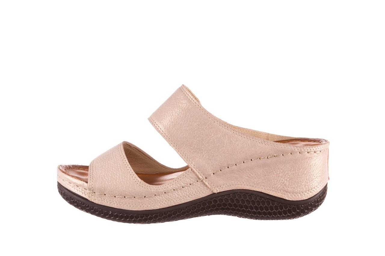 Klapki bayla-112 0001-428-bs43 beż, skóra naturalna  - na koturnie - klapki - buty damskie - kobieta 9