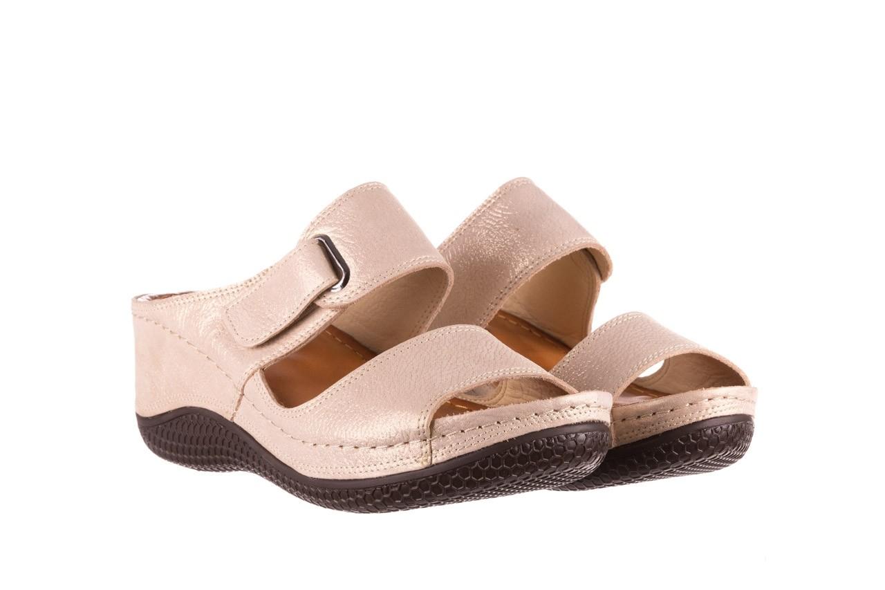 Klapki bayla-112 0001-428-bs43 beż, skóra naturalna  - na koturnie - klapki - buty damskie - kobieta 8