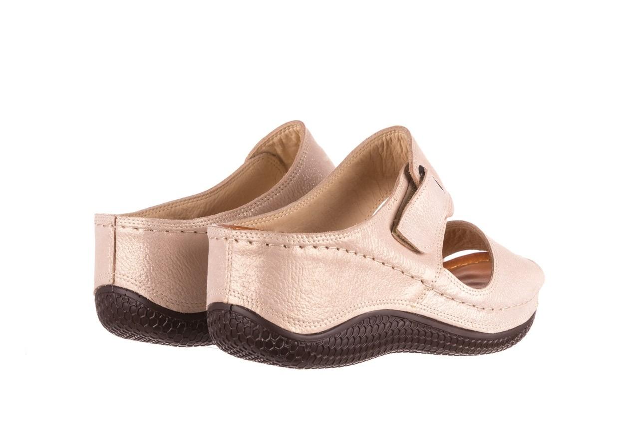 Klapki bayla-112 0001-428-bs43 beż, skóra naturalna  - na koturnie - klapki - buty damskie - kobieta 10