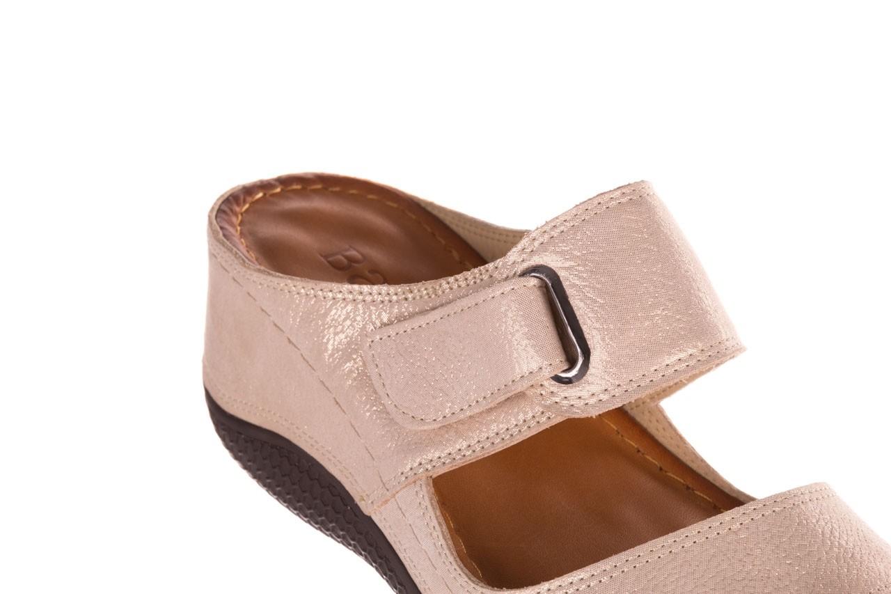 Klapki bayla-112 0001-428-bs43 beż, skóra naturalna  - na koturnie - klapki - buty damskie - kobieta 12