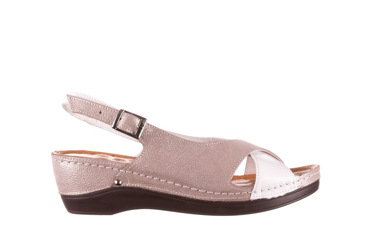 Sandały bayla-112 0158-58 biały szary, skóra naturalna  - bayla - nasze marki 7