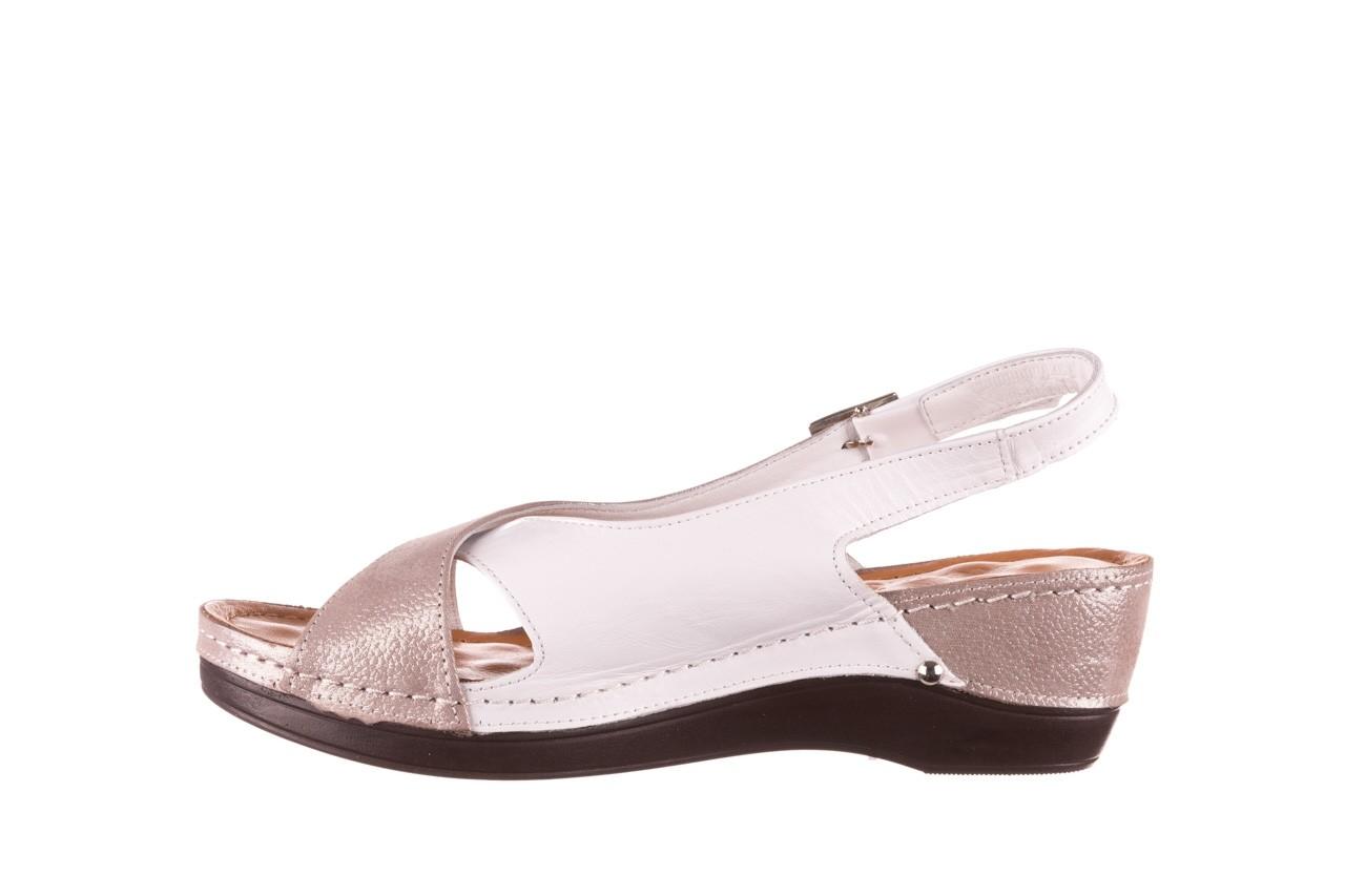 Sandały bayla-112 0158-58 biały szary, skóra naturalna  - bayla - nasze marki 9