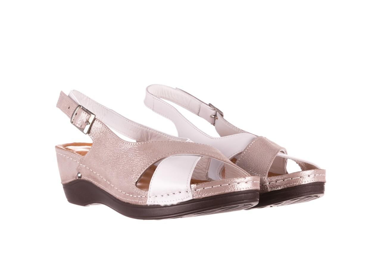 Sandały bayla-112 0158-58 biały szary, skóra naturalna  - bayla - nasze marki 8
