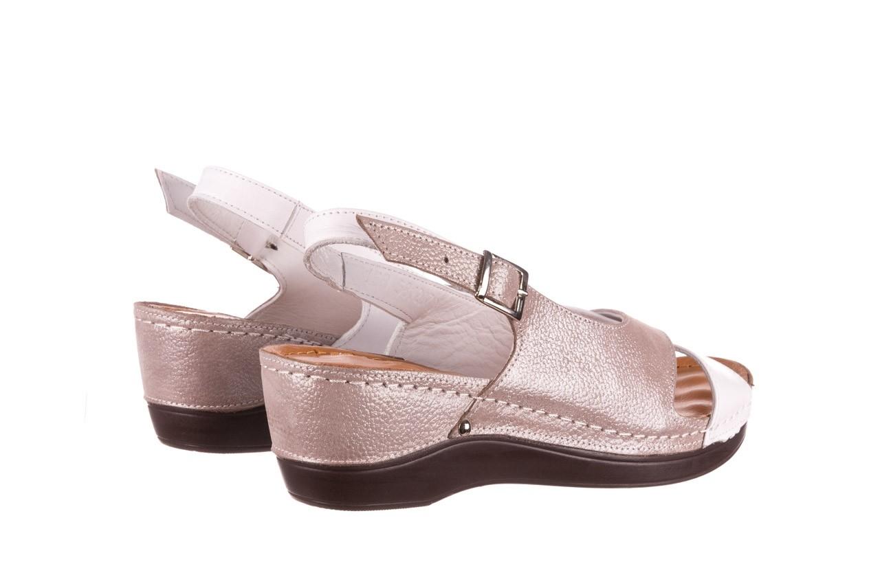 Sandały bayla-112 0158-58 biały szary, skóra naturalna  - bayla - nasze marki 10