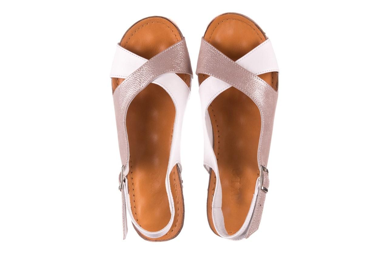 Sandały bayla-112 0158-58 biały szary, skóra naturalna  - bayla - nasze marki 11