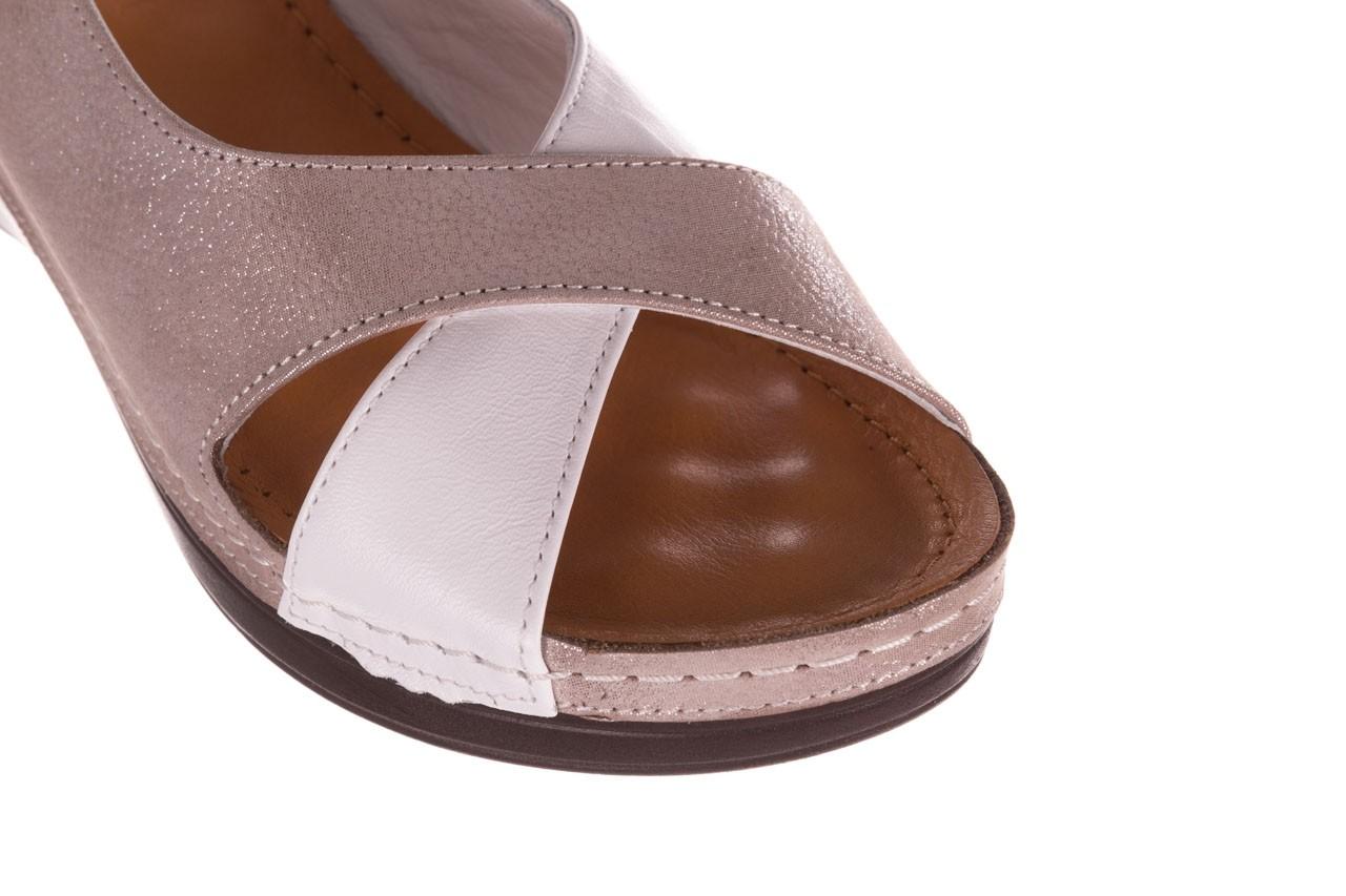 Sandały bayla-112 0158-58 biały szary, skóra naturalna  - bayla - nasze marki 12