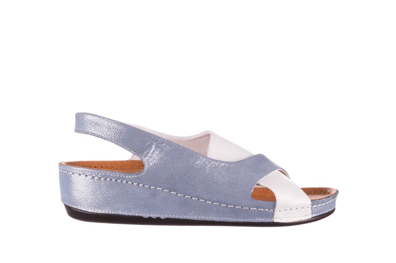 Sandały bayla-112 0158-30 biały niebieski, skóra naturalna  - bayla - nasze marki 6