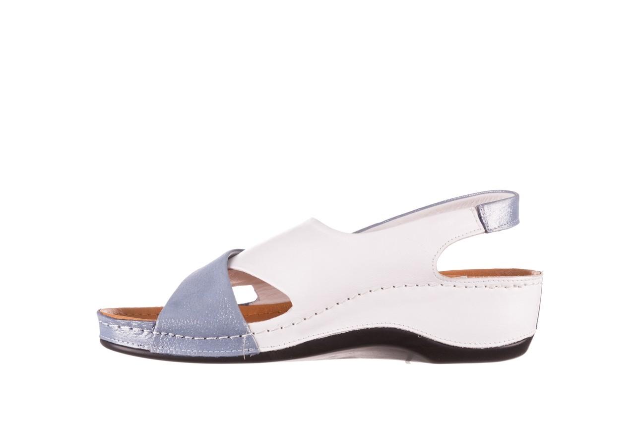 Sandały bayla-112 0158-30 biały niebieski, skóra naturalna  - bayla - nasze marki 8