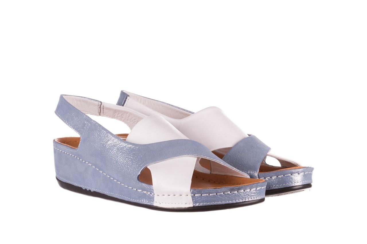 Sandały bayla-112 0158-30 biały niebieski, skóra naturalna  - bayla - nasze marki 7