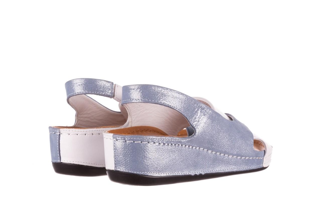Sandały bayla-112 0158-30 biały niebieski, skóra naturalna  - bayla - nasze marki 9