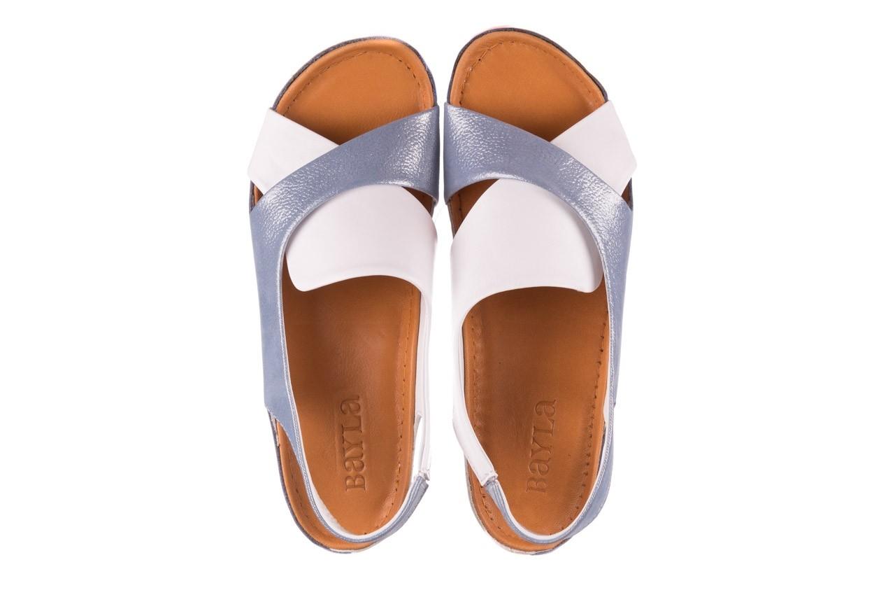 Sandały bayla-112 0158-30 biały niebieski, skóra naturalna  - bayla - nasze marki 10