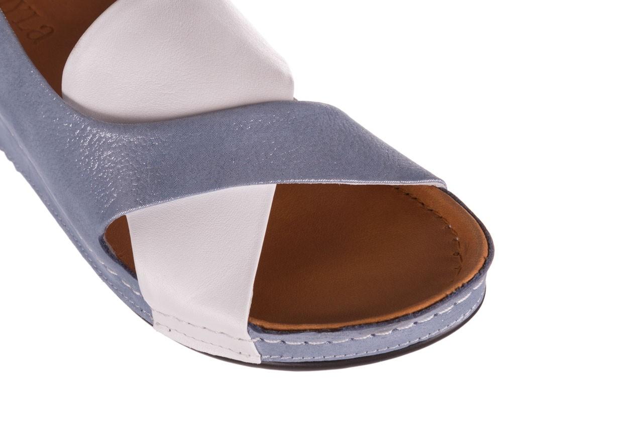 Sandały bayla-112 0158-30 biały niebieski, skóra naturalna  - bayla - nasze marki 11