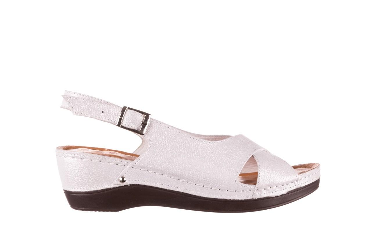 Sandały bayla-112 0158-58 biały, skóra naturalna  - na koturnie - sandały - buty damskie - kobieta 6