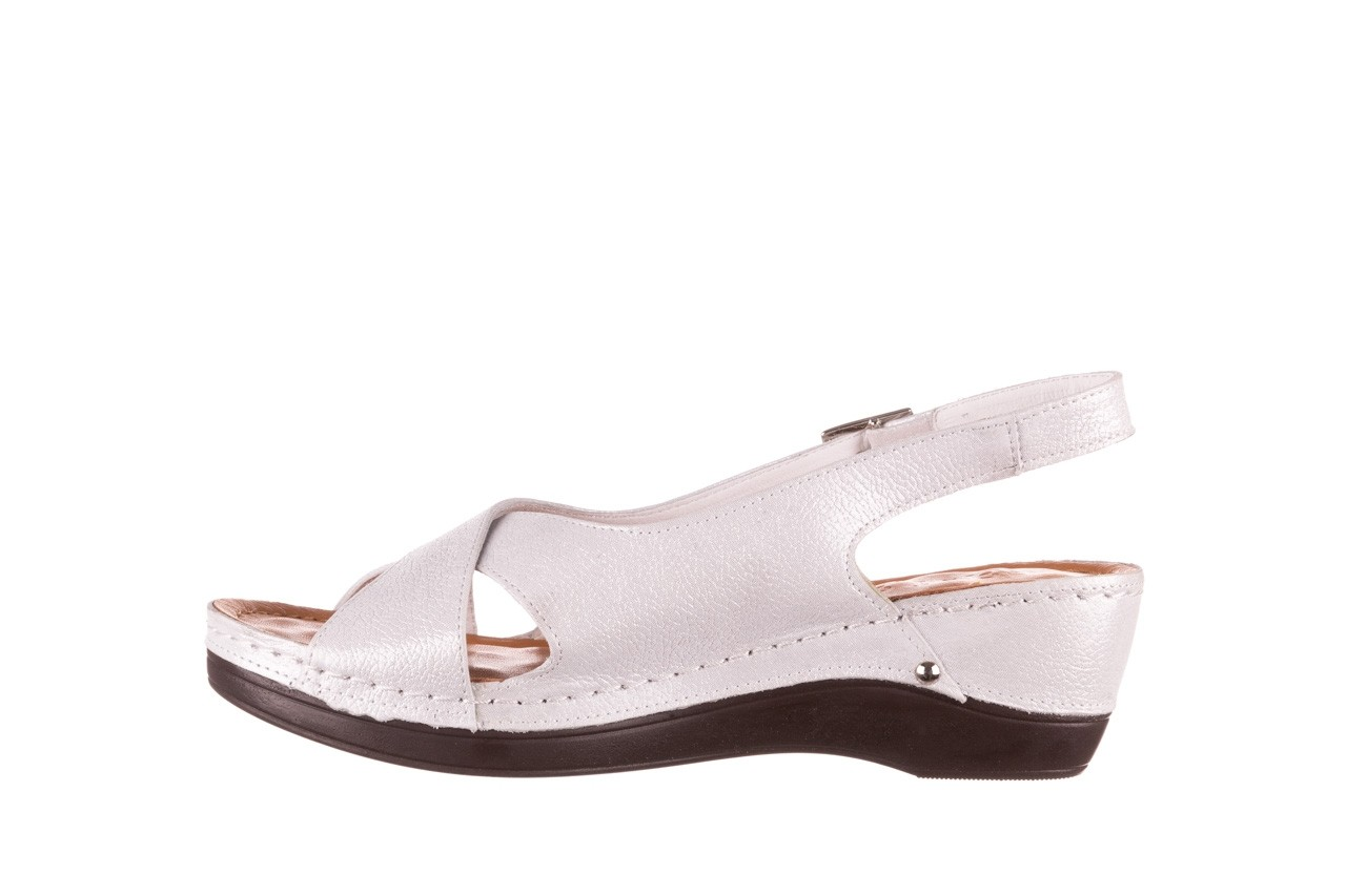 Sandały bayla-112 0158-58 biały, skóra naturalna  - na koturnie - sandały - buty damskie - kobieta 8