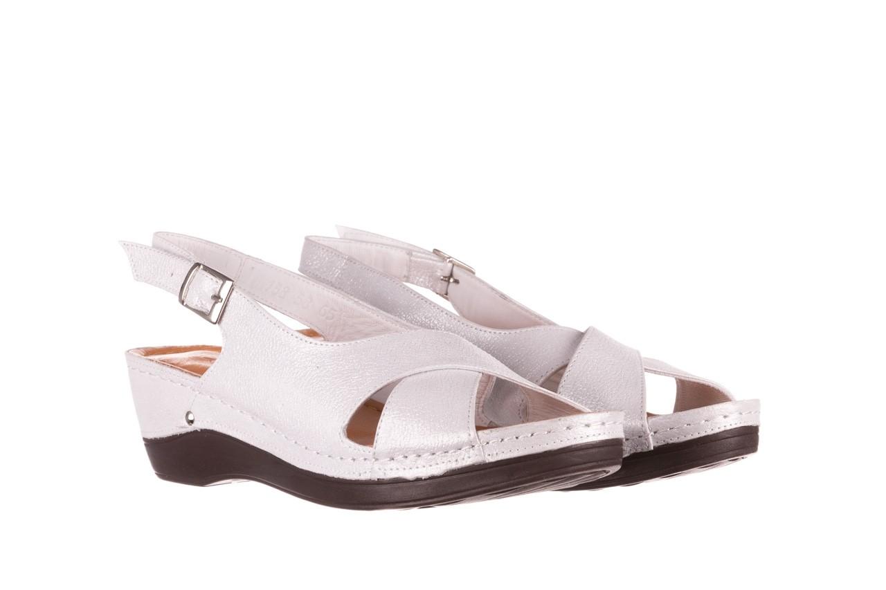 Sandały bayla-112 0158-58 biały, skóra naturalna  - na koturnie - sandały - buty damskie - kobieta 7
