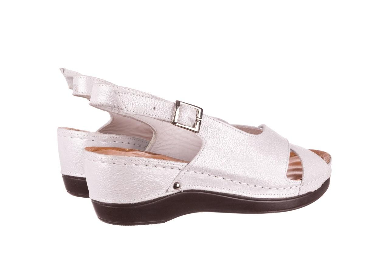 Sandały bayla-112 0158-58 biały, skóra naturalna  - na koturnie - sandały - buty damskie - kobieta 9