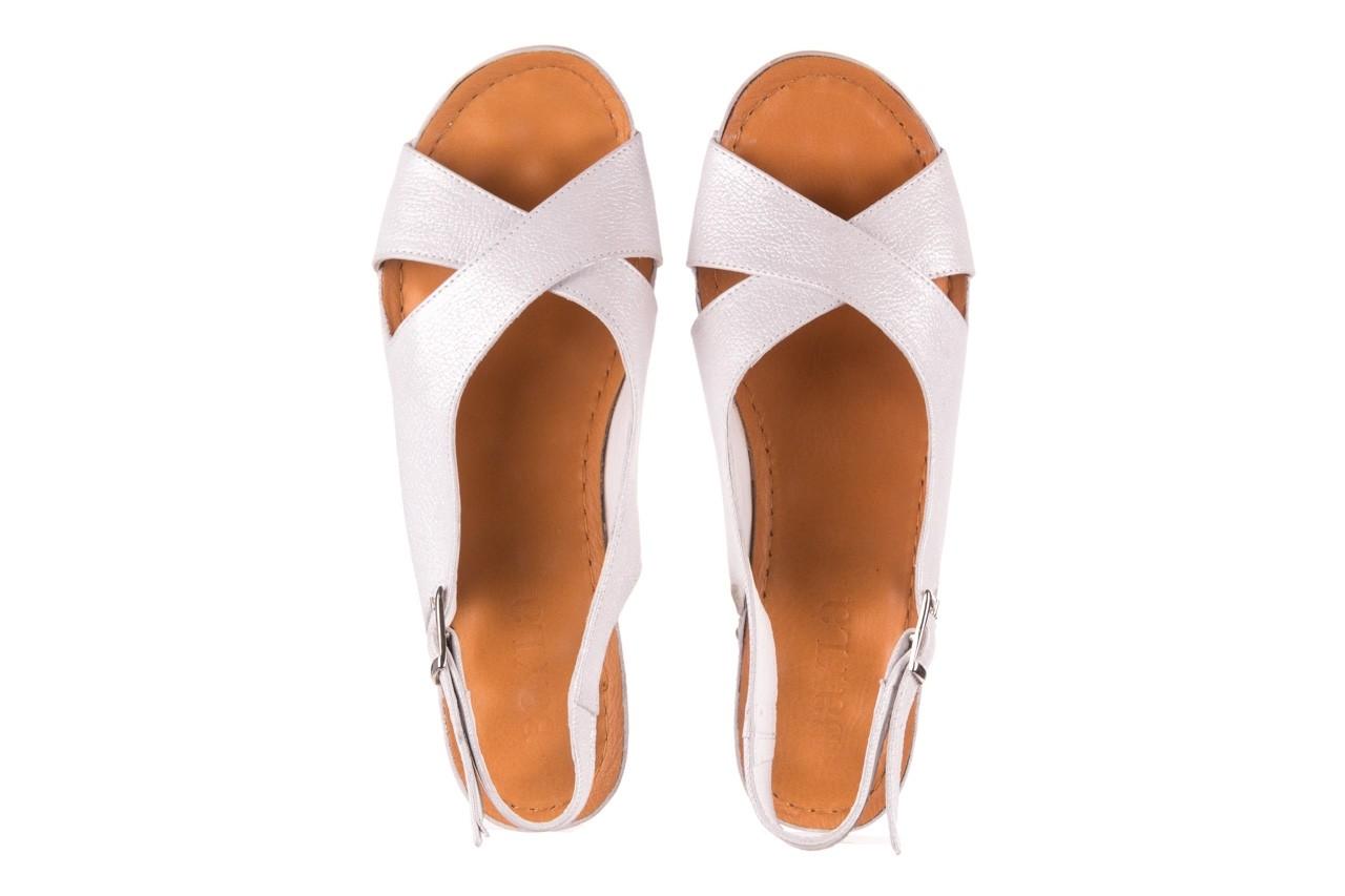 Sandały bayla-112 0158-58 biały, skóra naturalna  - na koturnie - sandały - buty damskie - kobieta 10