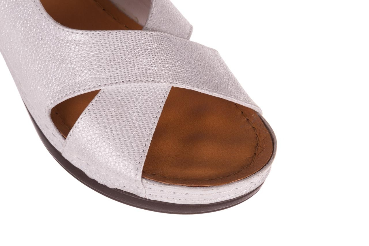 Sandały bayla-112 0158-58 biały, skóra naturalna  - na koturnie - sandały - buty damskie - kobieta 11