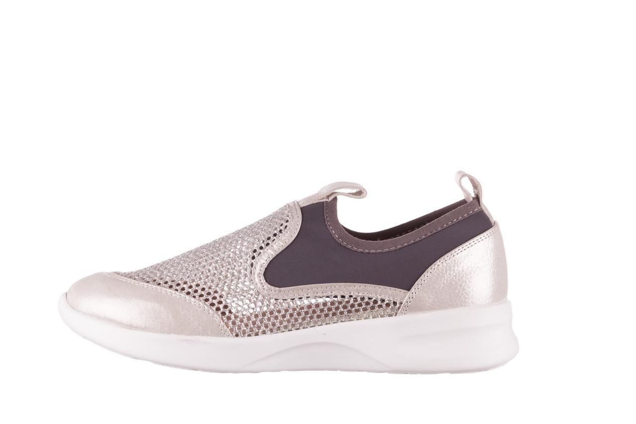 Sneakers bayla-112 0372-075 srebro, skóra naturalna/ materiał - sneakersy - buty damskie - kobieta 9