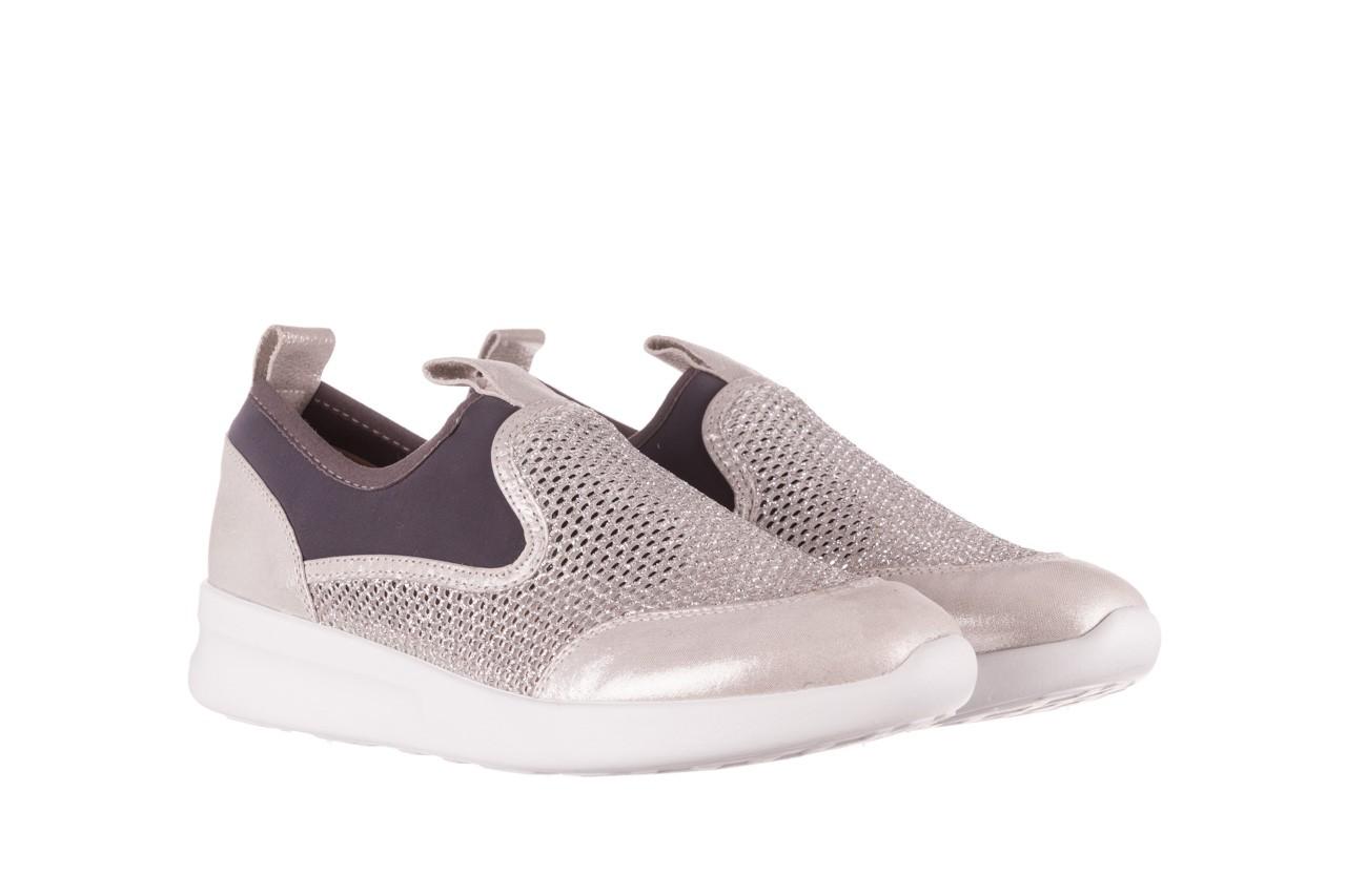 Sneakers bayla-112 0372-075 srebro, skóra naturalna/ materiał - sneakersy - buty damskie - kobieta 8