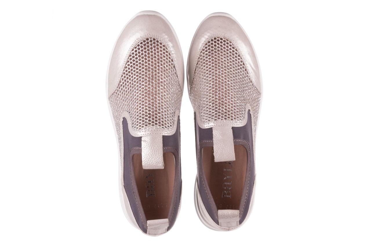 Sneakers bayla-112 0372-075 srebro, skóra naturalna/ materiał - sneakersy - buty damskie - kobieta 11