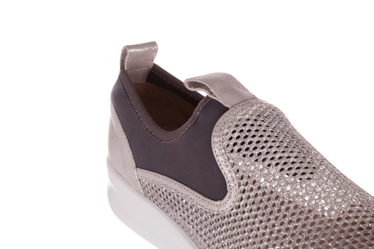Sneakers bayla-112 0372-075 srebro, skóra naturalna/ materiał - sneakersy - buty damskie - kobieta 12