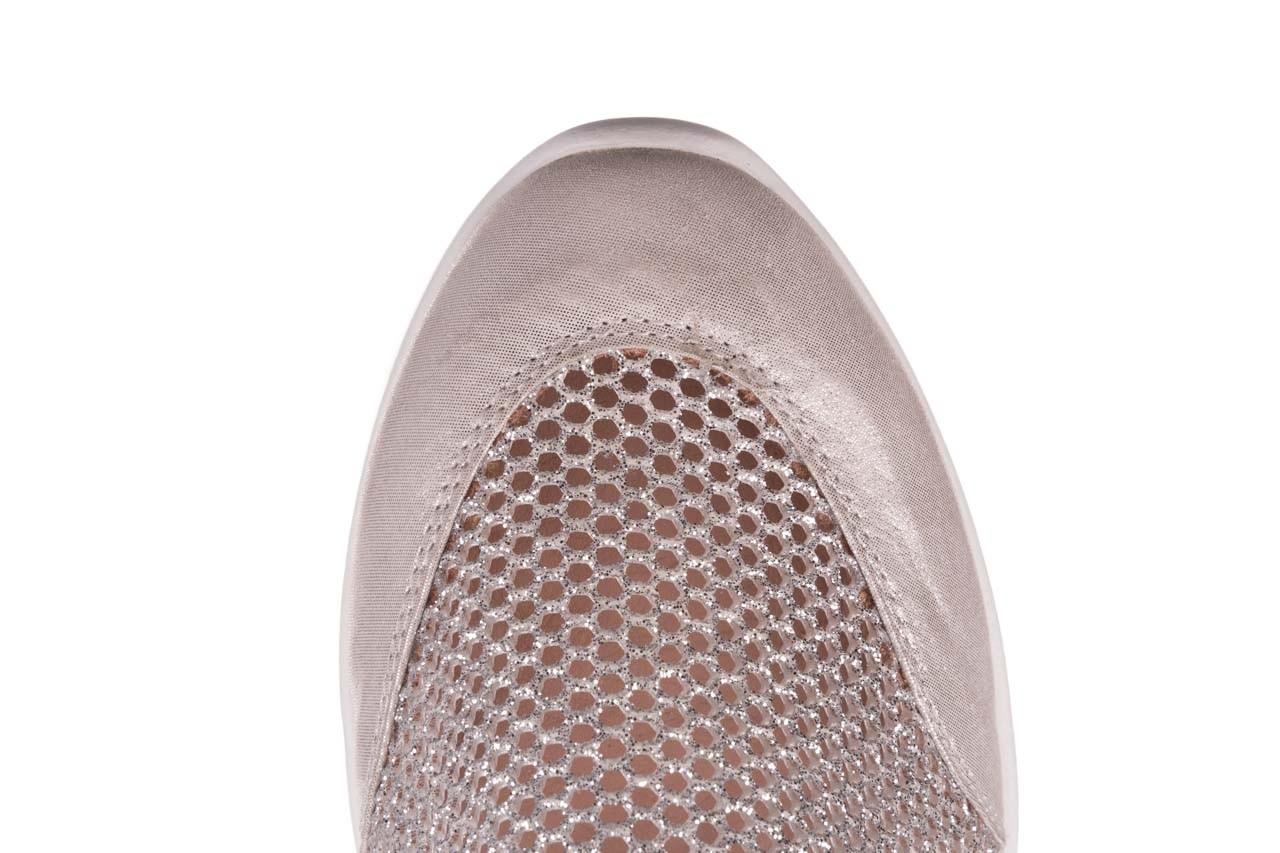 Sneakers bayla-112 0372-075 srebro, skóra naturalna/ materiał - sneakersy - buty damskie - kobieta 13