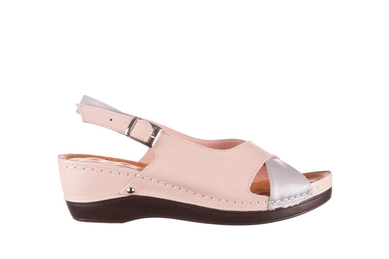 Sandały bayla-112 0158-58 róż szary, skóra naturalna 7