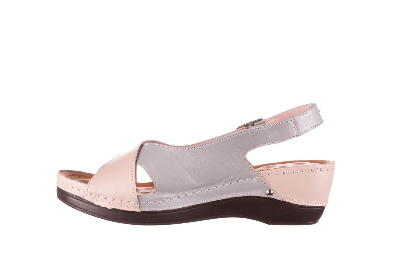 Sandały bayla-112 0158-58 róż szary, skóra naturalna 9