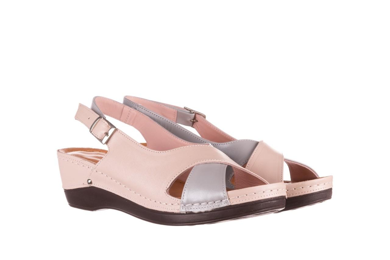 Sandały bayla-112 0158-58 róż szary, skóra naturalna 8