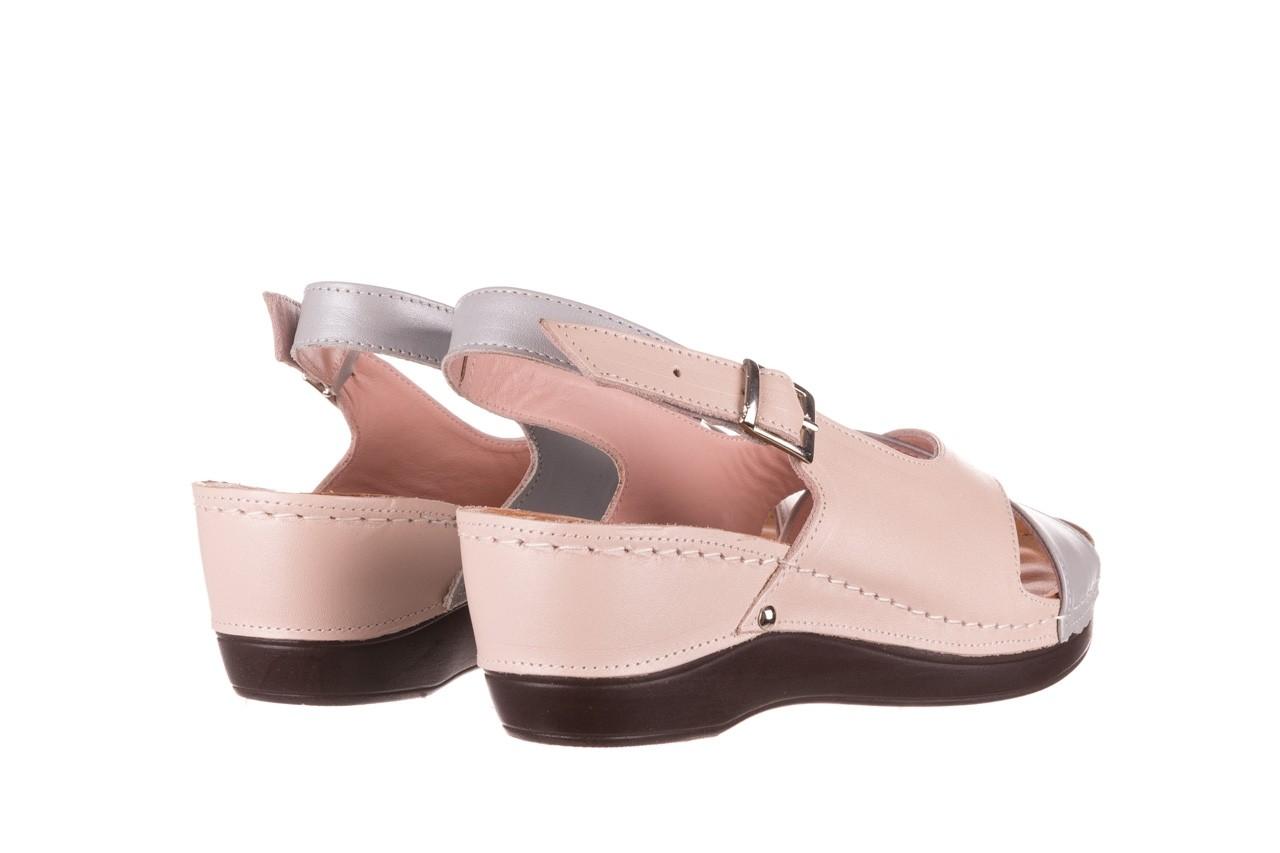 Sandały bayla-112 0158-58 róż szary, skóra naturalna 10