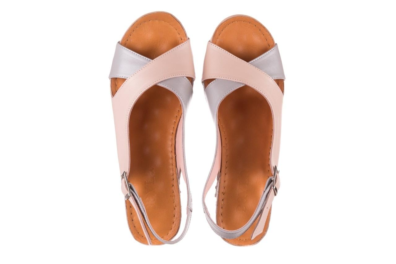Sandały bayla-112 0158-58 róż szary, skóra naturalna 11