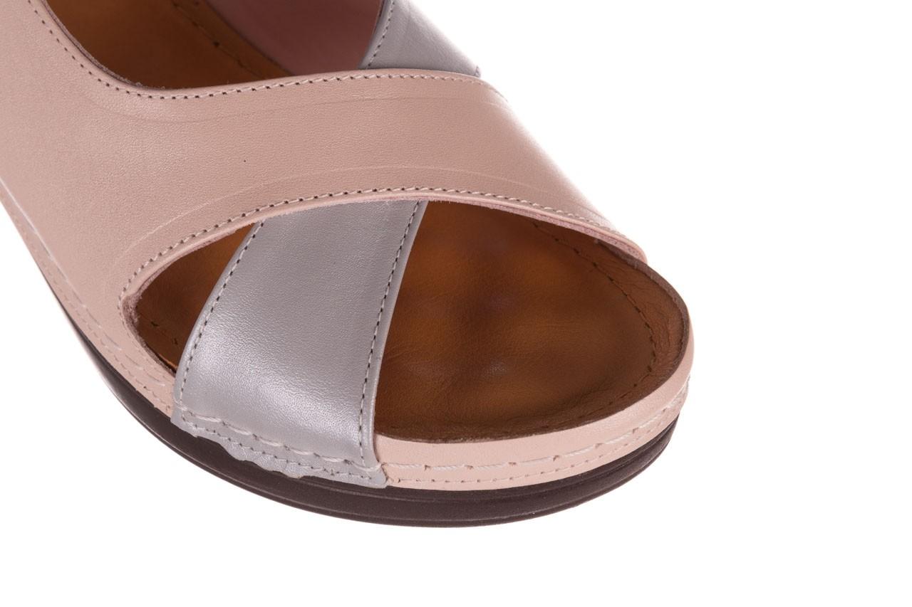 Sandały bayla-112 0158-58 róż szary, skóra naturalna 12