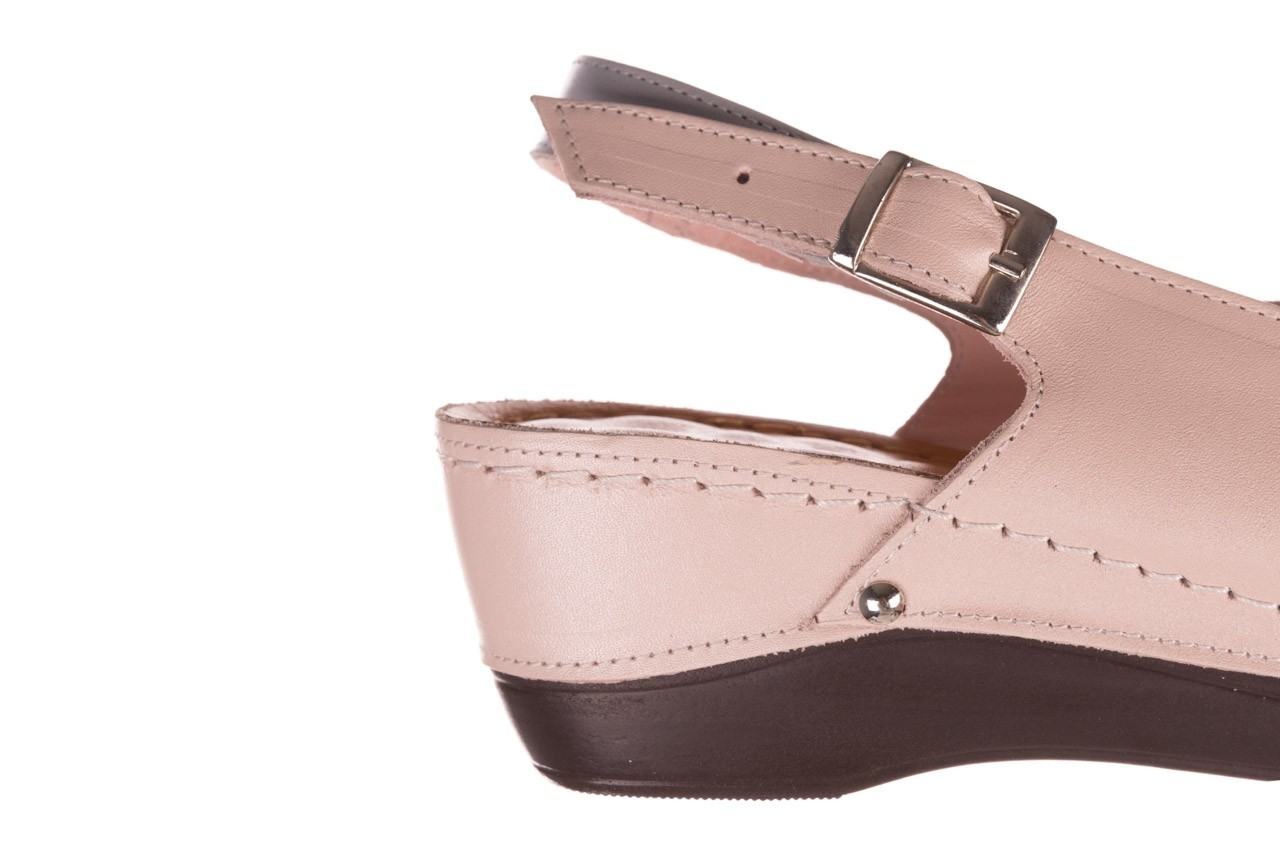 Sandały bayla-112 0158-58 róż szary, skóra naturalna 13