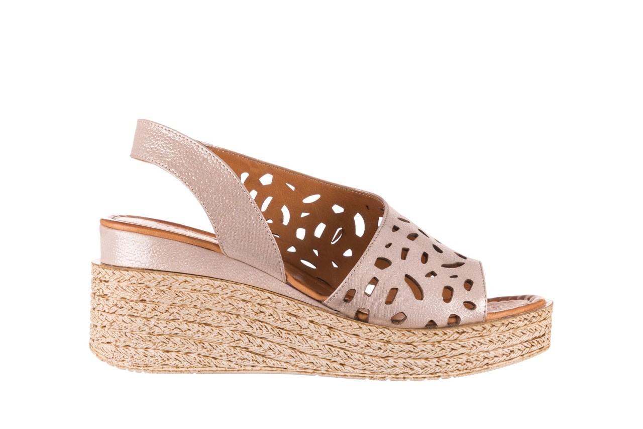 Sandały bayla-112 0414-1390 beż, skóra naturalna  - koturny - buty damskie - kobieta 7
