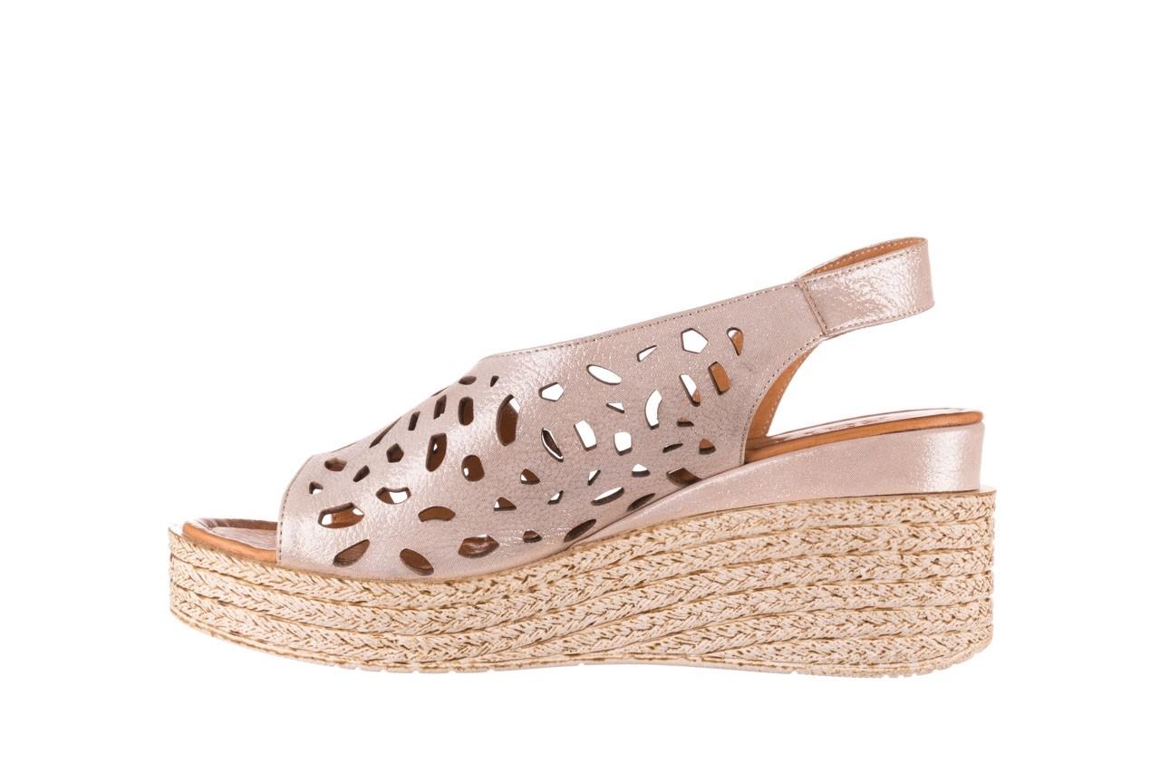 Sandały bayla-112 0414-1390 beż, skóra naturalna  - koturny - buty damskie - kobieta 9