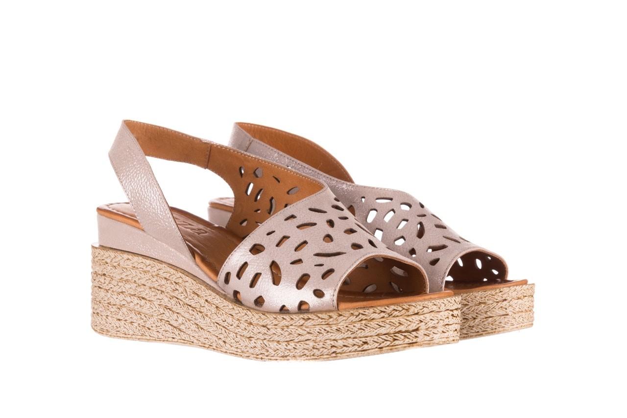 Sandały bayla-112 0414-1390 beż, skóra naturalna  - koturny - buty damskie - kobieta 8